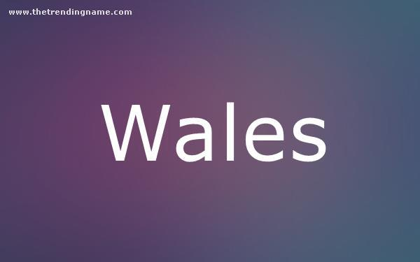 Baby Name Poster For Wales