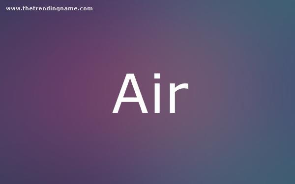 Baby Name Poster For Air