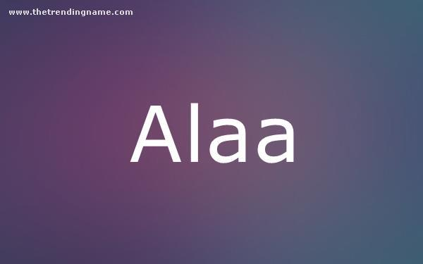 Baby Name Poster For Alaa