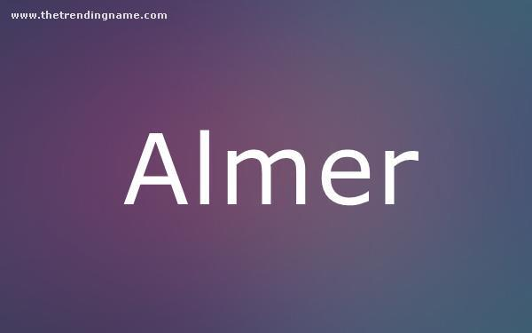 Baby Name Poster For Almer