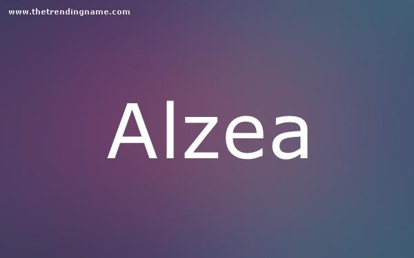 Baby Name Poster For Alzea
