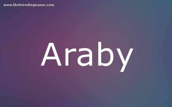Baby Name Poster For Araby
