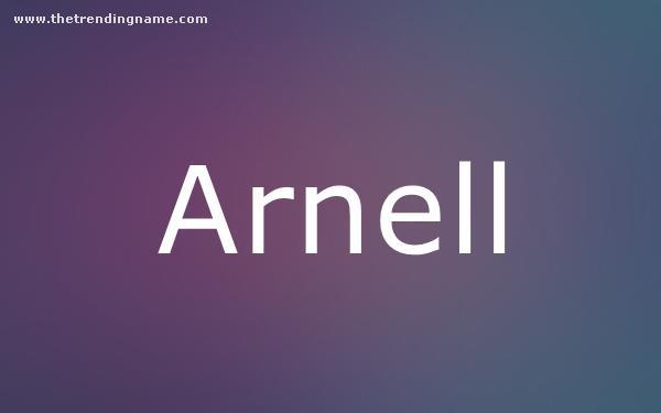 Baby Name Poster For Arnell
