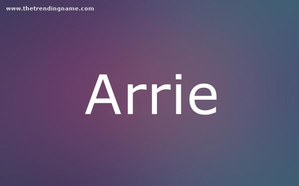 Baby Name Poster For Arrie