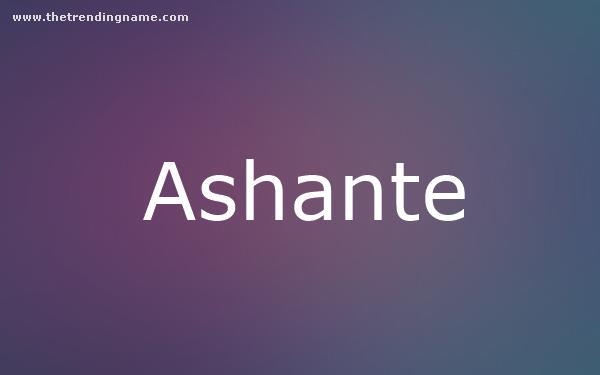 Baby Name Poster For Ashante