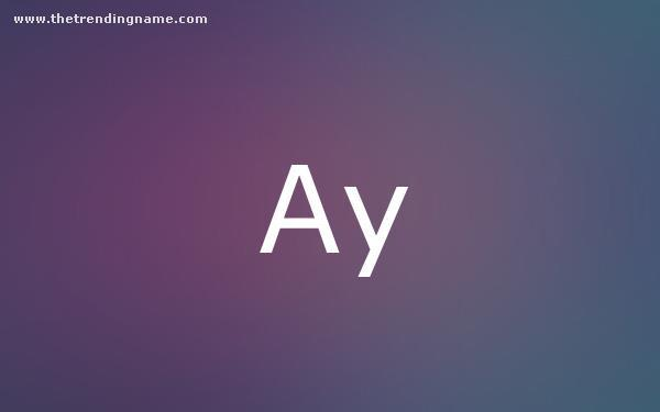 Baby Name Poster For Ay