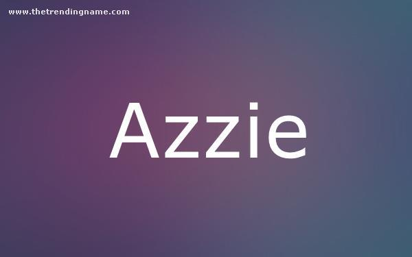 Baby Name Poster For Azzie