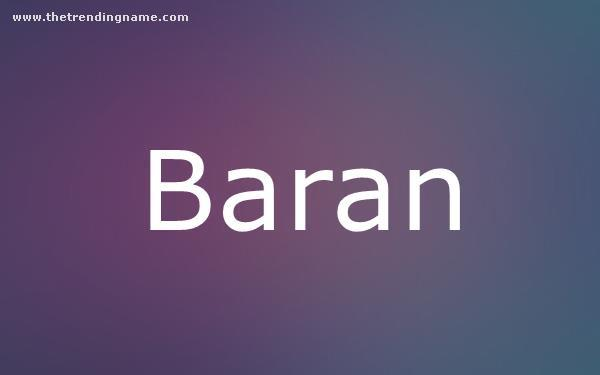 Baby Name Poster For Baran