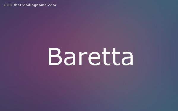 Baby Name Poster For Baretta
