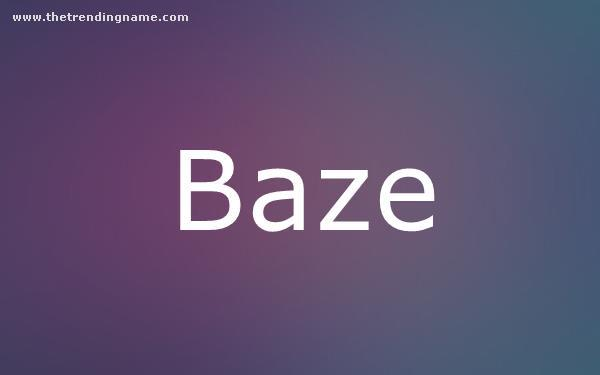 Baby Name Poster For Baze