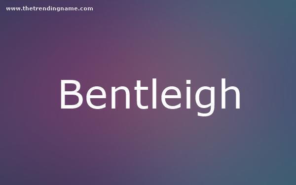 Baby Name Poster For Bentleigh