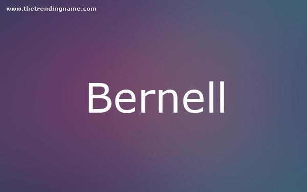 Baby Name Poster For Bernell