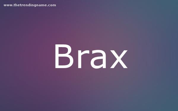 Baby Name Poster For Brax