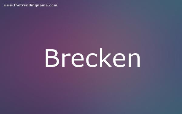 Baby Name Poster For Brecken
