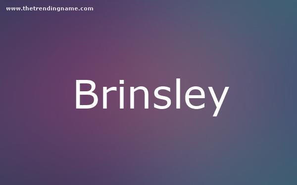 Baby Name Poster For Brinsley