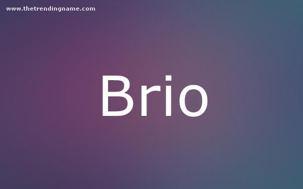 Baby Name Poster For Brio