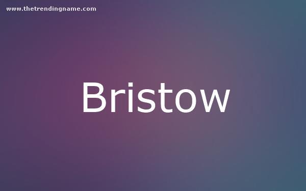 Baby Name Poster For Bristow