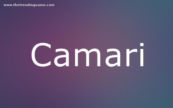 Baby Name Poster For Camari
