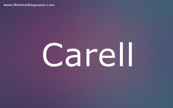 Baby Name Poster For Carell