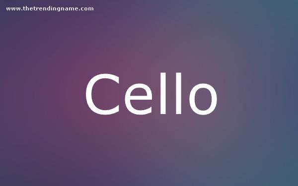 Baby Name Poster For Cello