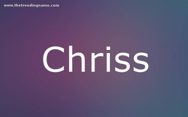 Baby Name Poster For Chriss