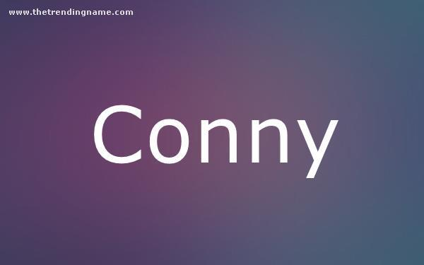 Baby Name Poster For Conny