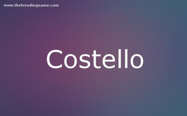 Baby Name Poster For Costello