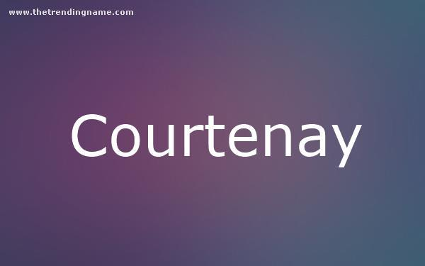 Baby Name Poster For Courtenay
