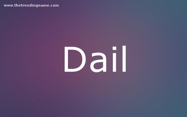 Baby Name Poster For Dail