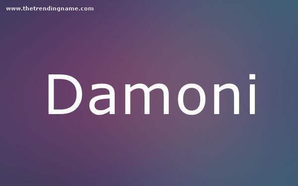 Baby Name Poster For Damoni