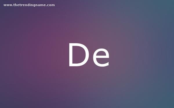 Baby Name Poster For De