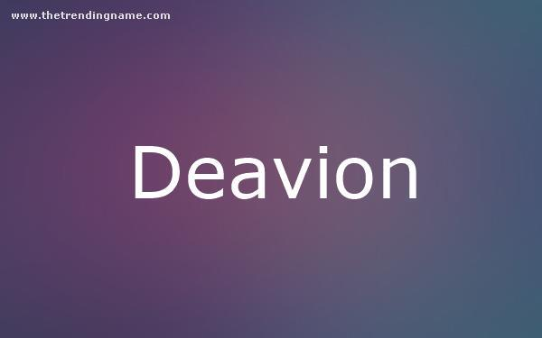 Baby Name Poster For Deavion