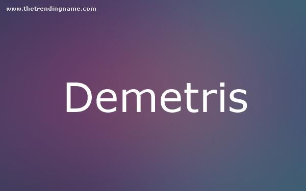 Baby Name Poster For Demetris