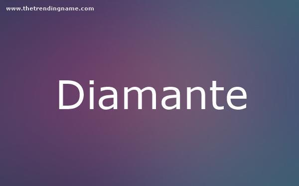 Baby Name Poster For Diamante