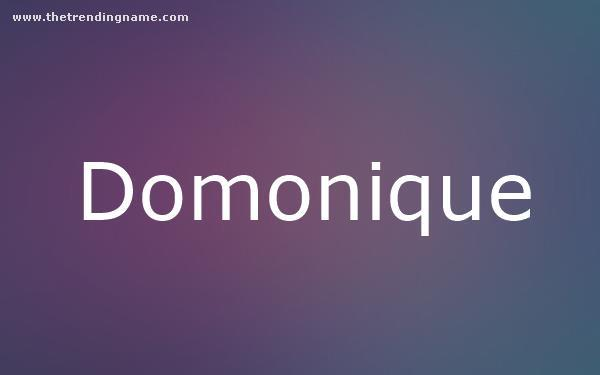 Baby Name Poster For Domonique