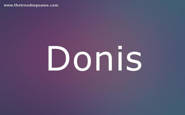 Baby Name Poster For Donis
