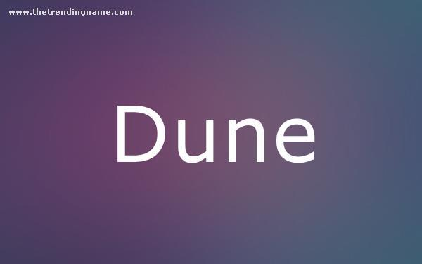 Baby Name Poster For Dune