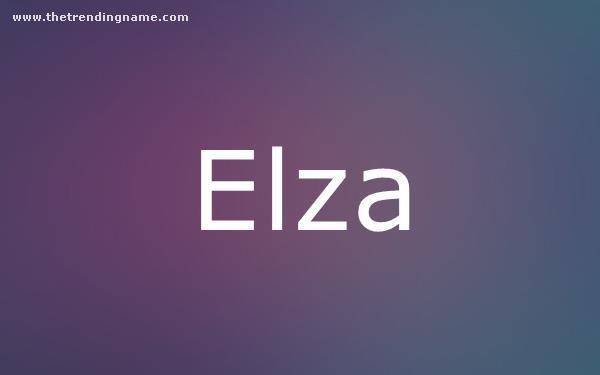Baby Name Poster For Elza
