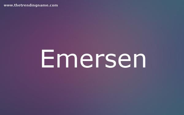 Baby Name Poster For Emersen
