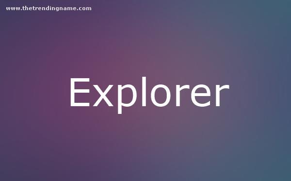 Baby Name Poster For Explorer