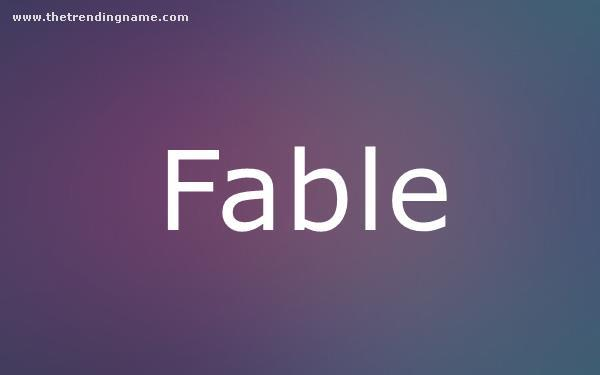 Baby Name Poster For Fable