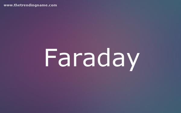 Baby Name Poster For Faraday