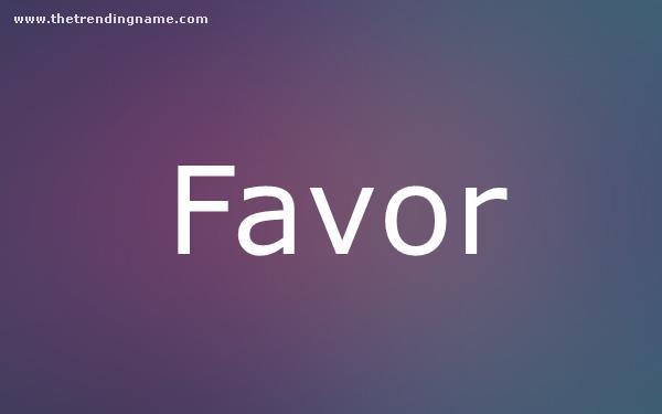 Baby Name Poster For Favor