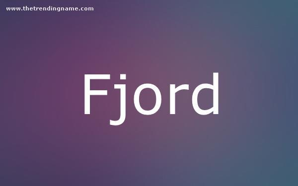 Baby Name Poster For Fjord