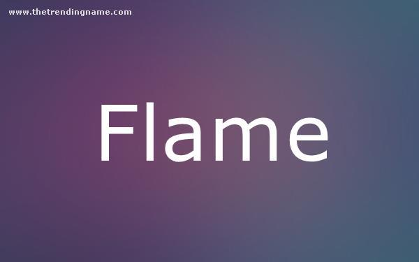 Baby Name Poster For Flame