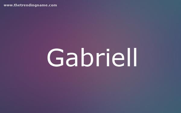 Baby Name Poster For Gabriell
