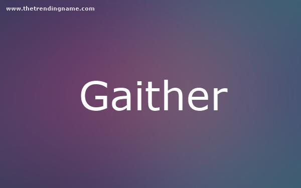 Baby Name Poster For Gaither