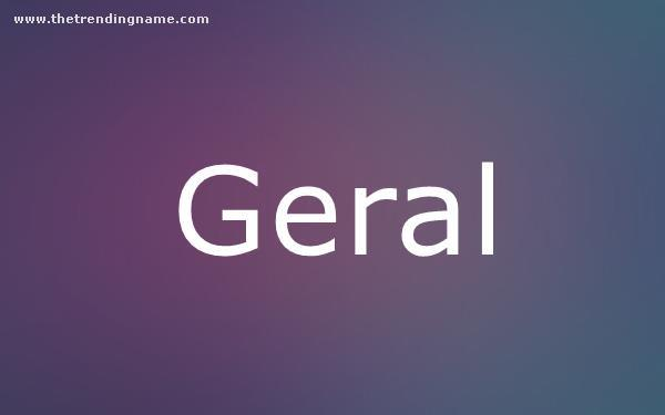 Baby Name Poster For Geral