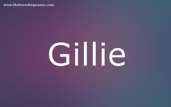 Baby Name Poster For Gillie