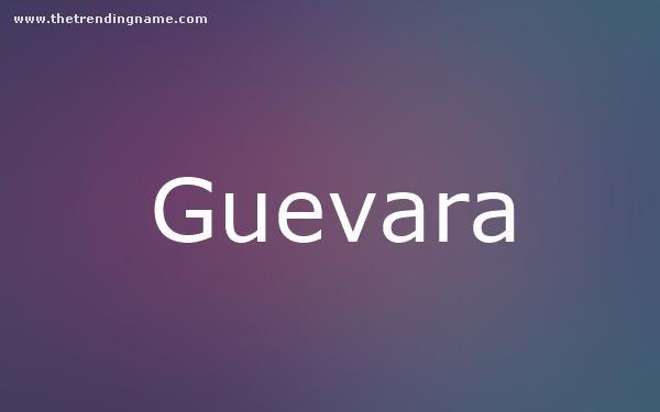 Baby Name Poster For Guevara
